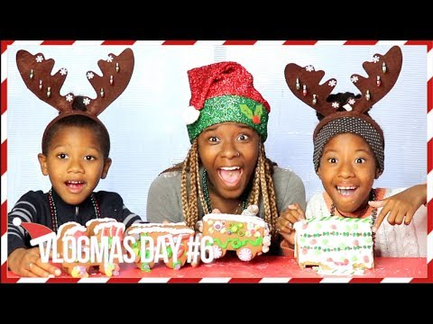 VLOGMAS DAY #6   GINGERBREAD HOUSE CHALLENGE W/ LACY'S FILES