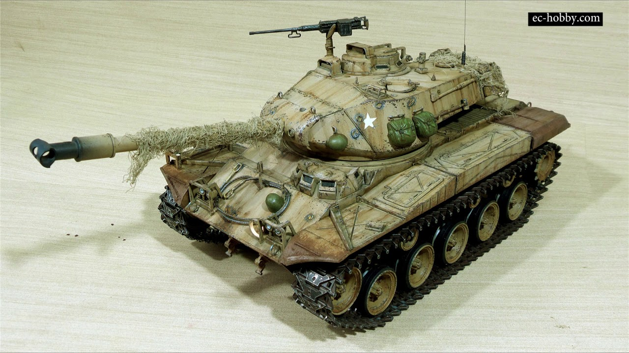 ec-hobby Painting Remote Control Scale Model Tank 1-16 US M41A3 Walker Bulldog RC Tank - YouTube