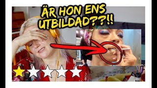 Reagerar på SÖLIGASTE makeupartisten!!
