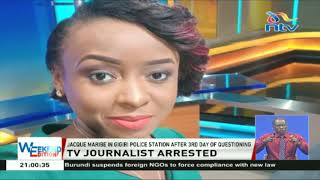 TV journalist Jacque Maribe arrested after 3rd day of questioning