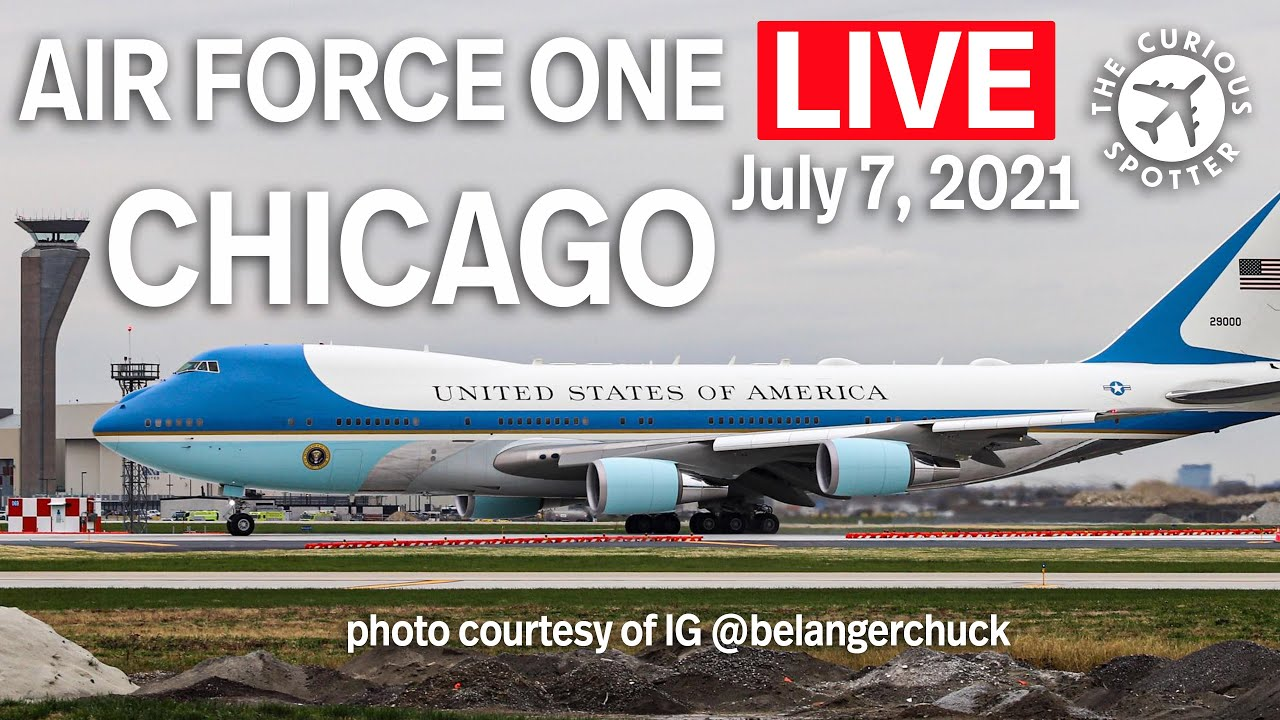 Download 🔴LIVE coverage: President JOE BIDEN landing onboard AIR FORCE ONE at CHICAGO O'Hare on July 7, 2021