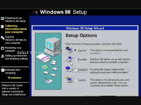 How to install Windows 98