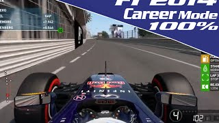 F1 2014 [Career Mode] - Part 6: Monaco Grand Prix 100% (Legend AI) LIVE