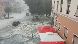 AUSTRIA: terribile grandinata a Voitsberg!
