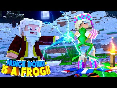 Minecraft LITTLE DONNY IS TURNED INTO A SLIMY FROG!!
