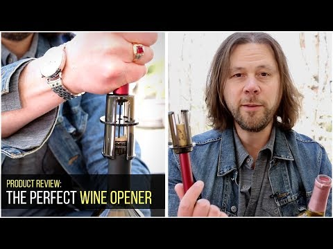 Product Review: The Perfect Wine Opener, open wine without a corkscrew!