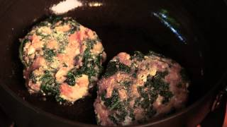 Stuffed Spinach & Feta Hamburgers : Fresh & Healthy Recipes