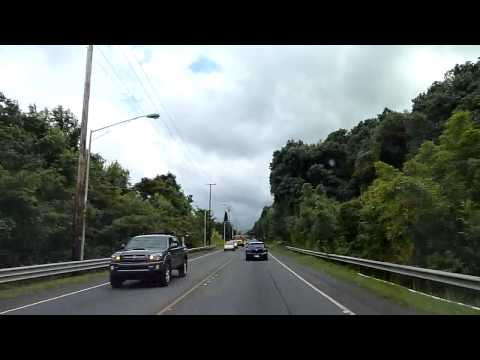 Driving to Kaneohe, Hawaii