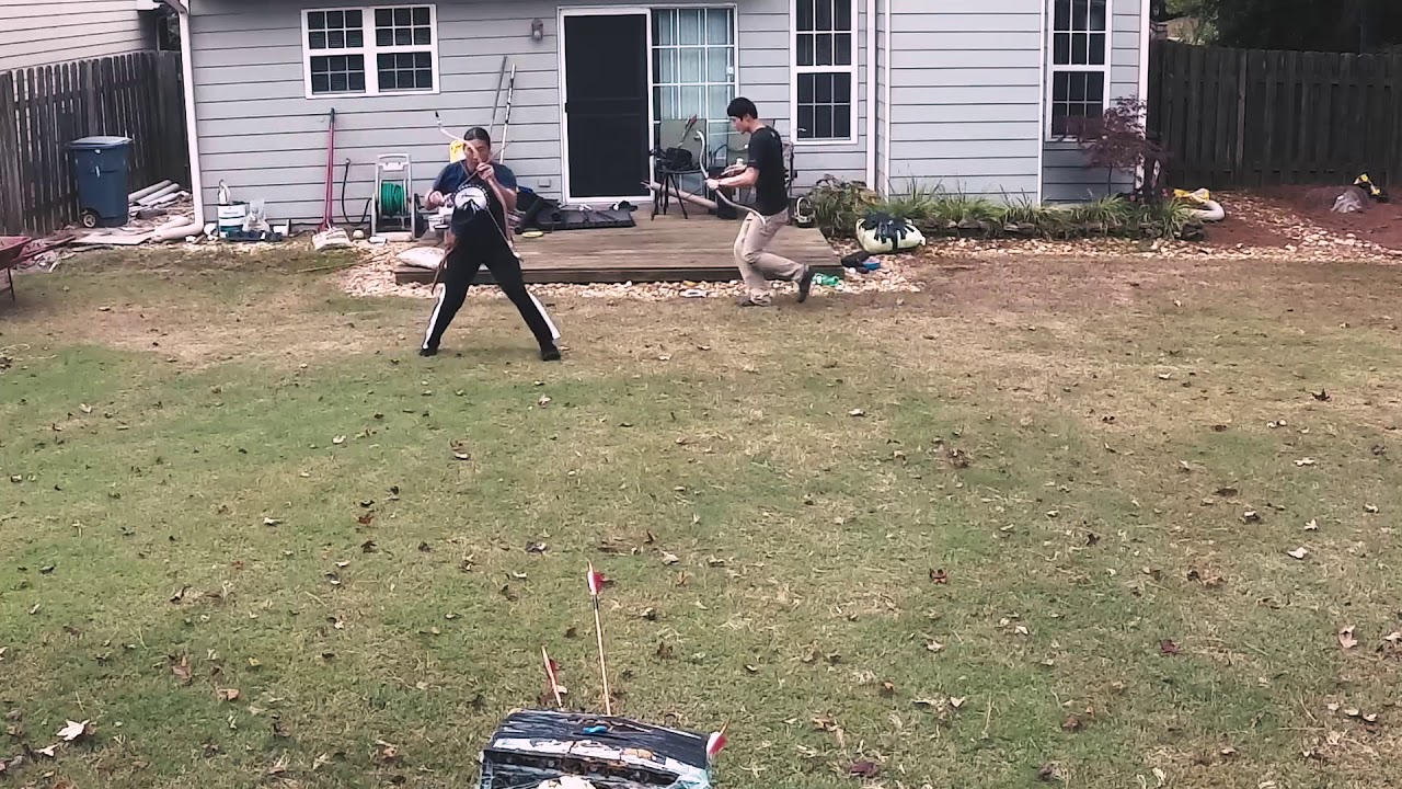 shooting practice with chris korean bow and turkish bow youtube