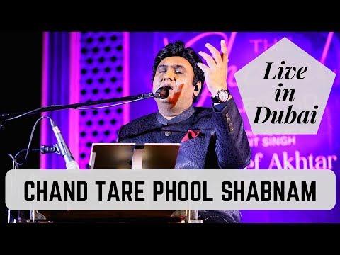 Chand Tare Phool Shabnam (Live in Dubai) | Tauseef Akhtar | Nadeem-Shravan | Sameer