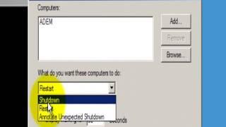 Server 2008  Uzak Bilgisayarı Kapatma Komutu