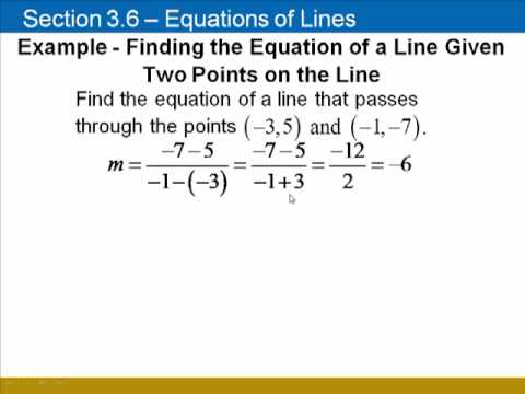 finding equations of lines using y mx b youtube. Black Bedroom Furniture Sets. Home Design Ideas