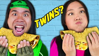 ARE THEY TWINS? Regina vs PZ9 Twin Telepathy, Eating Food, Dance, & Last To Leave House Challenges