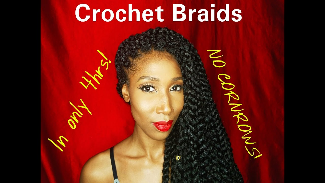 Crochet Braids No Cornrows : Crochet braids! No Cornrows! - YouTube