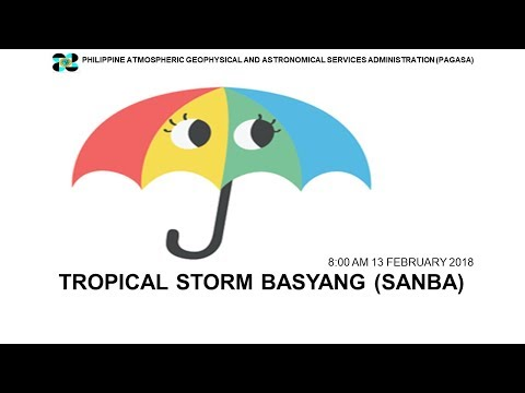 "Press Briefing: Tropical Storm  ""#BasyangPH"" (SANBA) Tuesday 8AM, February 13, 2018"