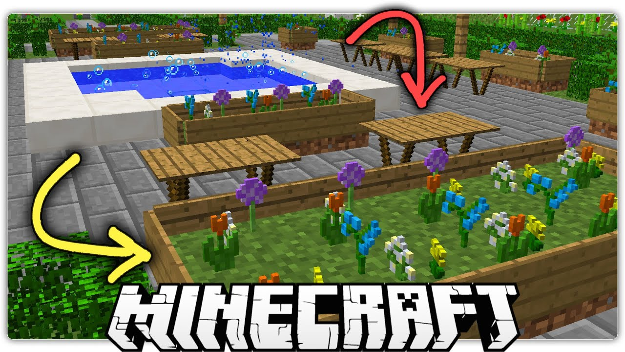 Minecraft 5 Special Ways To Make A Beautiful Park Garden Youtube