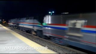Amtrak Special New Phase III Baggage Viewliner Cars Move