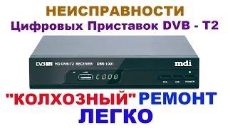 Несправності і можливий ремонт DVB - T2 приставок.