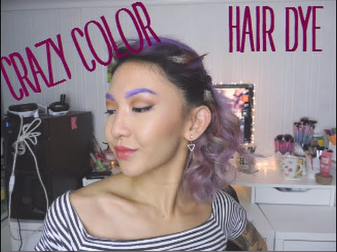 CRAZY COLOR HAIR DYE DEMO - PURPLE, PINK & SILVER