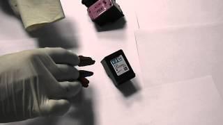 видео Заправка цветных, струйных  картриджей HP