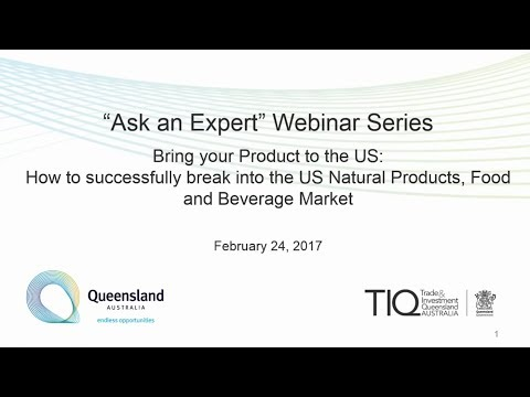 TIQ North America Ask an Expert Series - Webinar 1: Bring your product to the US