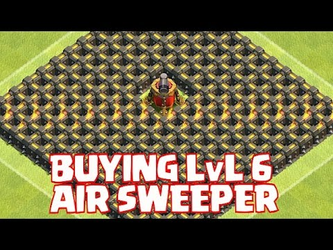 Clash Of Clans - BUYING LVL 6 AIR SWEEPER! (Monie Trap 8!)