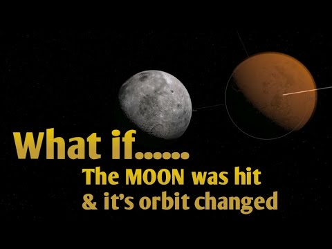 WHAT IF THE MOON WAS HIT & ITS ORBIT CHANGED