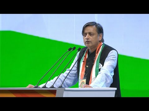 Shashi Tharoor Speech at the Congress Plenary Session 2018