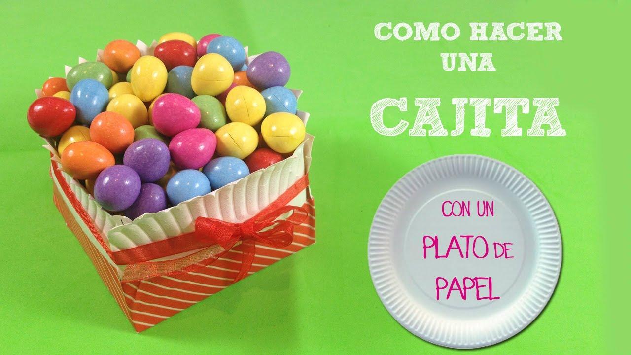 cajita de papel para dulces decoracin para fiestas infantiles youtube