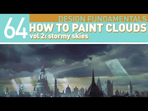 DIGITAL PAINTING TUTORIAL: Stormy skies