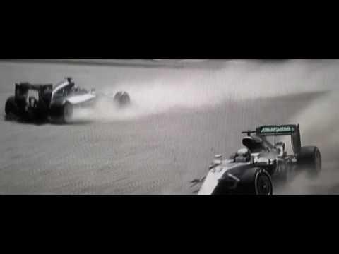 HAMILTON ROSBERG CRASH - Titanic Music   Mercedes Crashes   F1