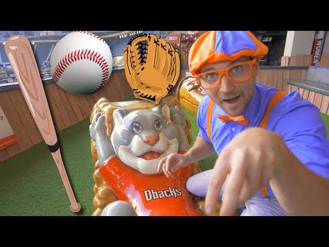Blippi at the Baseball Stadium | Sports and Outdoor Activities for Kids