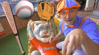 Blippi at the Baseball Stadium | Sports and Outdoor Activities for ...