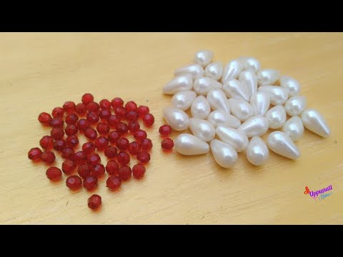 How to Make Pearl Drop Earrings At Home | DIY | Beaded Earrings | jewelry making | uppunutihome