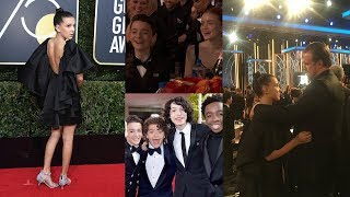 Stranger Things Cast Golden Globes Best Moments 2018