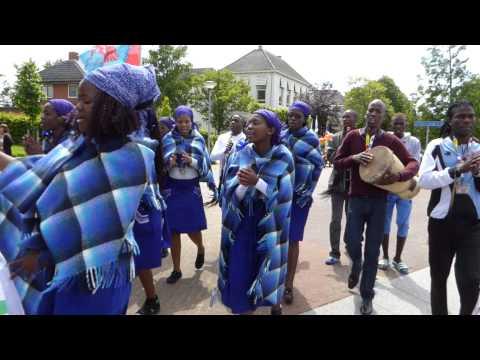 Ngwao Letshwao Performing Art, Botswana on parade at 50th OpRoakeldais 2015