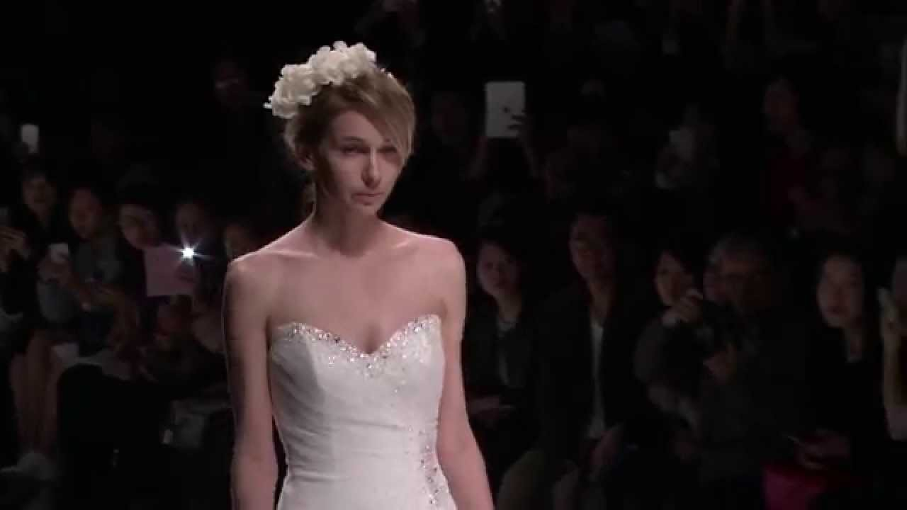 Sophia Tolli for Mon Cheri Runway Fall 2015 - YouTube