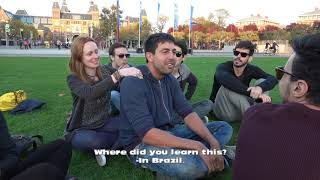 Multilingual friendship with strangers