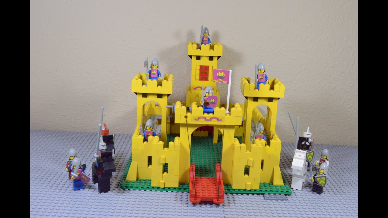 Vintage Lego Yellow Castle 6075375 Review Stop Motion Build