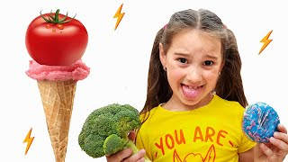 Four Kids Do You Like Broccoli Ice Cream Song for children