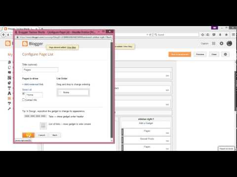 How to add tabs/pages for Blogger.com New Interface 2015