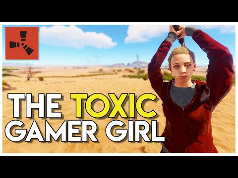 TOXIC GAMER GIRL GRIEFING and ONLINE RAIDING! - Rust Survival #86 thumbnail