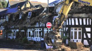 Thatcher's End fire demolition Ryde Isle of Wight Beijing Palace HD