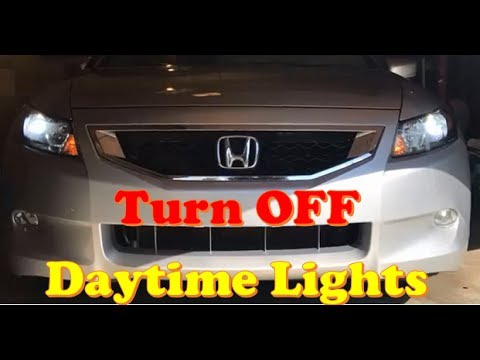 Honda Accord Disable Daytime Running Lights DRL (Coupe / Sedan)