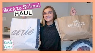 HUGE BACK TO SCHOOL SHOPPING HAUL - HOLLISTER, PINK, FOREVER 21, ABERCROMBIE & MORE!