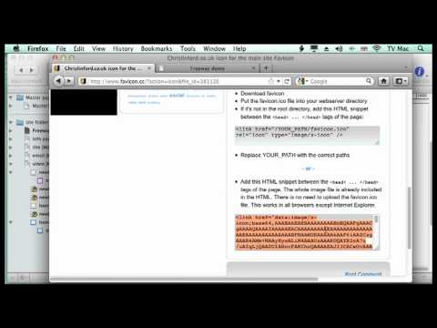 Freeway Lesson 30 - Place HTML In The Header - Favicon