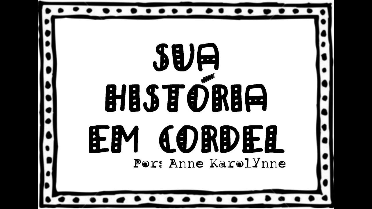 Cordel Personalizado Sua Historia Rimada Youtube