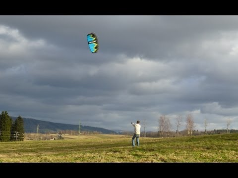 3m Power Kite flying on windy day