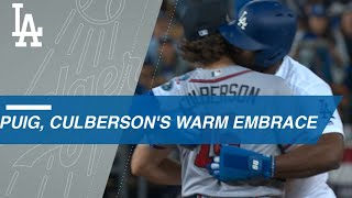 Suzuki nabs Puig, who gives Culberson a big embrace
