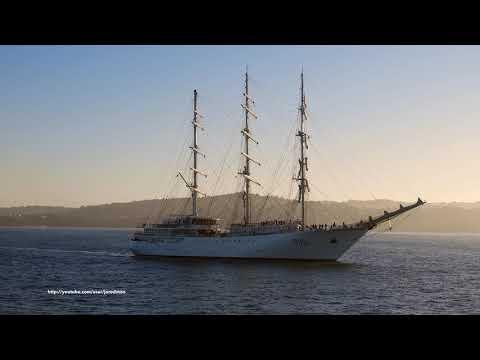 Training Sailing Ship EL MELLAH arrives in A Coruna [4K]